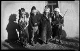 Left to right Santiago Naranjo, Joe H. Quintana, Juan Melchor and Toby Suina, Cochiti Pueblo, New...