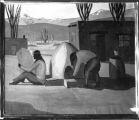 Unidentified painting of Pueblo subjects