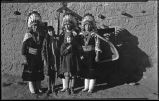 Women and children including Lupena (Elsie) Roybal and Clara Montoya, San Ildefonso Pueblo, New...