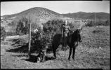 Boy on horseback, Upper Canyon Road, Santa Fe, New Mexico