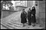 Arthur Seligman with his wife Frankie (left) and step daugher Mrs. Richie Seligman March on...