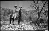 Man on horseback, Young Ranch, New Mexico