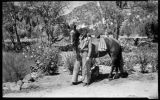 Man with horse, Young Ranch, New Mexico
