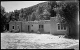 Adobe building at the Young Ranch, New Mexico