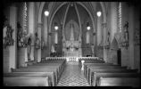 Interior of Loretto Chapel, Santa Fe, New Mexico