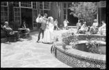 Couple dancing in the outdoor patio, La Fonda Hotel, New Mexico