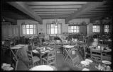 Dining hall, La Fonda Hotel, Santa Fe, New Mexico