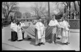Installation procession of Archbishop Gerken outside Saint Francis Cathedral, Santa Fe, New Mexico