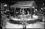 Christmas decorations in courtyard of La Fonda Hotel, Santa Fe, New Mexico