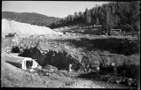 Construction of McClure or Granite Point Dam and Reservoir near Santa Fe, New Mexico, September...
