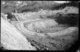 Construction of McClure or Granite Point Dam and Reservoir near Santa Fe, New Mexico, November 30,...