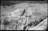 Construction of Nichols or Four-Mile Dam and Reservoir near Santa Fe, New Mexico, North bank to...
