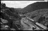 Construction of Nichols or Four-Mile Dam and Reservoir near Santa Fe, New Mexico, throat of...