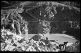 Construction of Nichols or Four-Mile Dam and Reservoir near Santa Fe, New Mexico, core wall on...