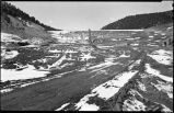 Construction of Nichols or Four-Mile Dam and Reservoir near Santa Fe, New Mexico, core trench...