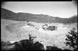 Construction of Nichols or Four-Mile Dam and Reservoir near Santa Fe, New Mexico, excavation for...