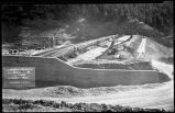 Construction of Nichols or Four-Mile Dam and Reservoir near Santa Fe, New Mexico, summit pool,...