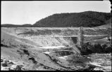 Construction of Nichols or Four-Mile Dam and Reservoir near Santa Fe, New Mexico, upstream face...