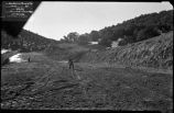 Construction of Nichols or Four-Mile Dam and Reservoir near Santa Fe, New Mexico, spillway...