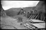 Construction of McClure or Granite Point Dam and Reservoir near Santa Fe, New Mexico