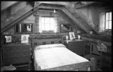 Bedroom in unidentified cabin, New Mexico