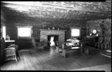 Living room of cabin, New Mexico