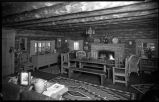 Log cabin interior, New Mexico