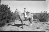 Young horseback rider, New Mexico