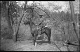 Photographer T. Harmon Parkhurst on horseback, New Mexico