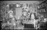 Tinsmith Francisco Delgado in his home, 503 Canyon Road, Santa Fe, New Mexico