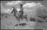 Horseback riders, Ghost Ranch near Abiquiu, New Mexico