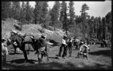 Students camping, Los Alamos Ranch School, Los Alamos, New Mexico