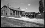 Students on horseback, Los Alamos Ranch School, Los Alamos, New Mexico