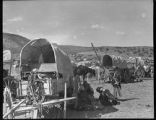 Navajo encampment at Laguna Pueblo, New Mexico