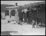Adobe home with chile drying, San Felipe Pueblo, New Mexico