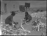 Braiding corn, San Juan Pueblo, New Mexico