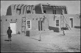 Adobe homes, San Juan Pueblo, New Mexico