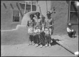 Buffalo dancers, Tesuque Pueblo,  New Mexico