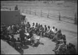 Unidentified meeting, Tesuque Pueblo, New Mexico