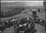 Congressionla Committee meeting on the Plaza, Tesuque Pueblo, New Mexico