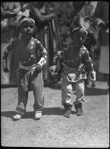 Young dancers, Tesuque Pueblo, New Mexico