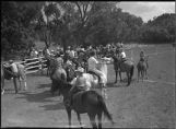 Group of riders at junior rodeo, New Mexico
