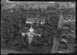 Aerial view of State Capitol building, Santa Fe, New Mexico