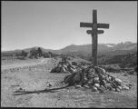 Wooden crosses (descanso) near Truchas, New Mexico