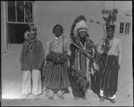 Juan Trujillo, Eleuterio Suina, José Domingo Quintana and Joe Trujillo, Cochiti Pueblo, New Mexico