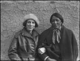 Unidentified man and woman, Taos Pueblo, New Mexico