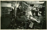 Students setting type in print shop, School for the Deaf, Santa Fe, New Mexico