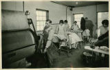 Students and workers in laundry, School for the Deaf, Santa Fe, New Mexico