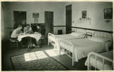 Students in dorm room, School for the Deaf, Santa Fe, New Mexico