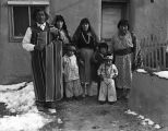 Eleutario Suina on left, with his family, Cochiti Pueblo, New Mexico